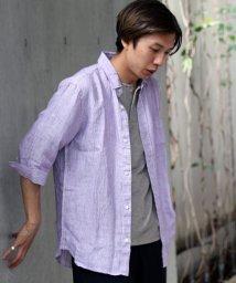 JOURNAL STANDARD relume Men's/LINENサキゾメ 7分袖シャツ/501117429