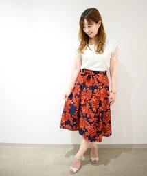 Eimy Peal by POWDER SUGAR/花柄ウエストリボンスカート/501108356
