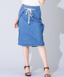 en recre/【FUHAM】ミディ丈デニムタイトスカート/501108523