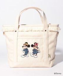 en recre/【ACCOMMODE】ミッキー&ミニー刺繍ハンドバッグ/501108567