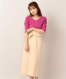 MIIA/フリルベルト付きタイトスカート/501110691