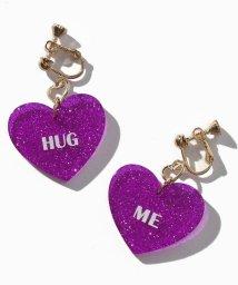 Lovetoxic/HUG MEラメハートイヤリング/501114304