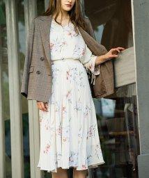 Noela/【sweet9月号掲載】【セットアップ対応商品】オリジナル水彩タッチブーケ柄スカート/501115736