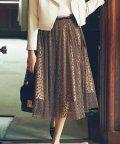 Noela/【美人百花9月号掲載】レオパードチュール2WAYスカート/501115737