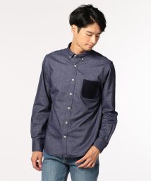 GLOSTER/シャギーニットポケットシャツ/501119629