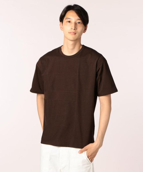 GLOSTER(GLOSTER)/切り替えTシャツ/70695253001