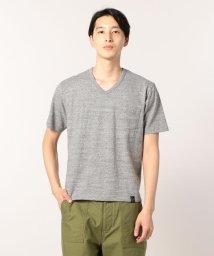 GLOSTER/吊編みラフィートップヘザーTシャツ/501119805