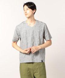 GLOSTER/幾何学VネックTシャツ/501119826