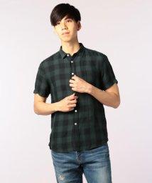 GLOSTER/フレンチリネン チェックシャツ/501119870