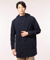 GLOSTER/ナイロンオックス フード付ロングコート/501119893
