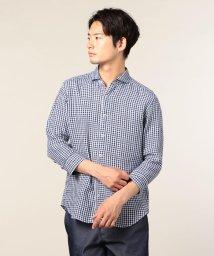 GLOSTER/フレンチリネンパラシュート7分袖シャツ/501120002