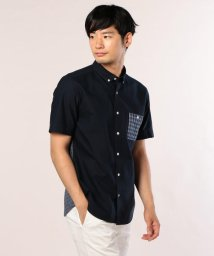 GLOSTER/OXギンガムコンビS/Sシャツ/501120004