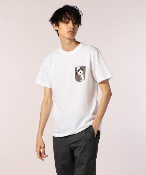 FREDYMAC(フレディマック)/フェイクポケットSNOOPY Tシャツ/8-0690-2-50-062