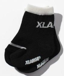 XLARGE KIDS/ロゴバイカラークルーソックス/501114313