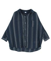 titivate/2wayインド綿マルチストライプシャツ/501121540