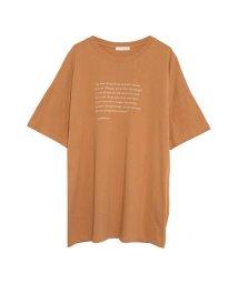 Re:EDIT/オーバーサイズメッセージプリントTシャツ/501121819