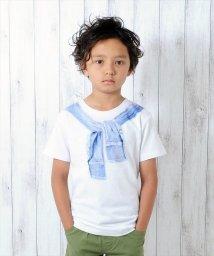 GLAZOS/デニムシャツモチーフ半袖Tシャツ/501122212