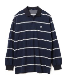BEAMS MEN/FRED PERRY × BEAMS / 別注 ボーダー ロングスリーブ ポロシャツ/501122914