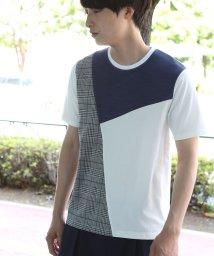 JUNRed/チェック切替クレイジーTシャツ/501111422