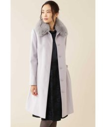 NATURAL BEAUTY/カシミヤ混フォックスファー襟ロングウールコート/501123094