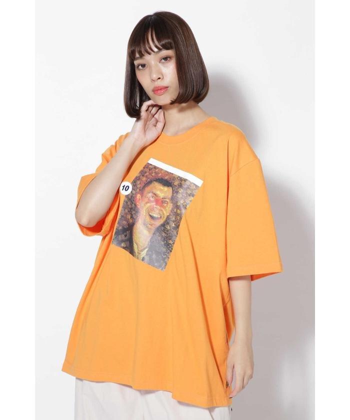 アートペイントプリントTシャツ