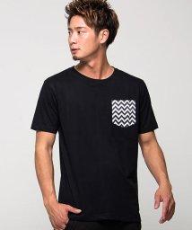 CavariA/CavariA【キャバリア】ポケットプリントザインクルーネック半袖Tシャツ/501123718