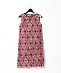 GRACE CONTINENTAL/バイカラーキカ刺繍ワンピース/501124119
