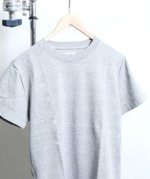 coen/ポップコーンソリッドボーダークルーネックTシャツ/501113746