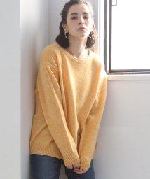 coen/【手洗いできる】ラムウールクルーネックニット(ブラウン⇒WEB限定)/501125597