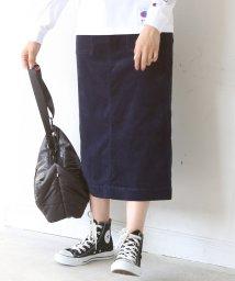 coen/【『MORE』2月号掲載】コーデュロイストレッチタイトロングスカート/501125607