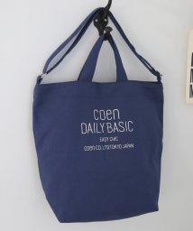 coen/【人気アイテム】DAILY 2WAYトートバッグ(ショルダーバッグ/キャンバスバッグ)/501125610