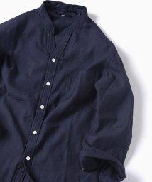 SHIPS MEN/SC: リネン【COOL MAX】バンド スキッパー 7スリーブシャツ/501125615