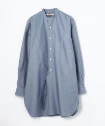 BACCA/コットンバックサテン スタンドカラーロングシャツ/501125627
