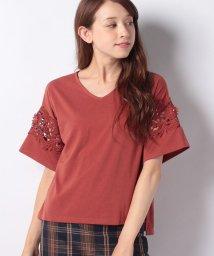 axes femme/レース使いTシャツ/500991415