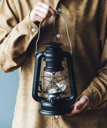 haco!/まるで本物の灯りのよう レトロな風合いのLEDランタン〈マットブラック〉/501110897