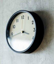 haco!/無骨な雰囲気の 小さめ置き掛け時計〈マットブラック〉/501110900