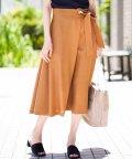 MICHEL KLEIN/【セットアップ対応/洗える】リネンライクラップデザインスカート/501113555