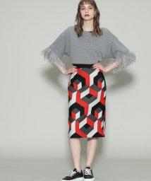 GRACE CONTINENTAL/幾何ジャガードタイトスカート/501126085