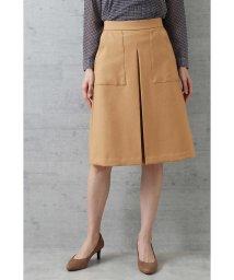 NATURAL BEAUTY BASIC/〈ウォッシャブル〉カルゼボックスプリーツスカート/501126258
