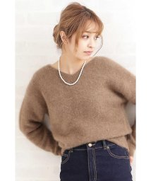 N Natural Beauty Basic/Fluffy Vネックニット/501126334