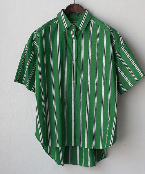 REAL CUBE(リアルキューブ)/Seadrake マルチストライプコットンシャツ/89-81303