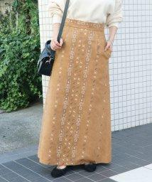 SLOBE IENA/《予約》スエードライク刺繍スカート◆/501127247