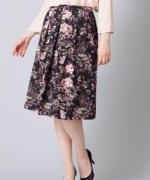 Leilian/花柄フレアスカ-ト/501092034