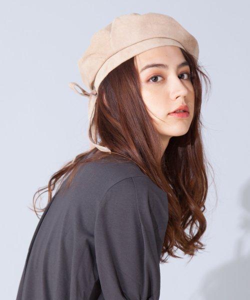 en recre(アン レクレ)/【CASSELINI】リアルレザースエードベレー帽/6802364