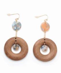 NOBLE/【V+J】combi wood earring/501128154