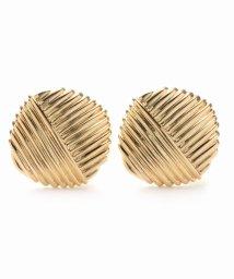 NOBLE/【V+J】striped square earrings/501128156
