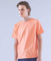 ABAHOUSE/【ノンストレス】圧着クルーネックTシャツ/501128209