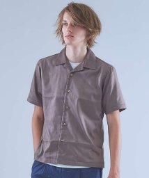 ABAHOUSE/【Recency of Mine】マイクロストレッチスエードオープンカラーシャツ/501128210