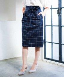 MK MICHEL KLEIN/【洗濯機で洗える】ウィンドウペンチェック柄スカート/501128488