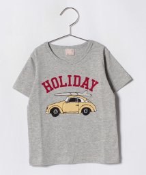 petit main/車&ロゴプリントTシャツ/501122062